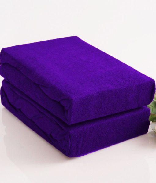 TP Froté prostěradlo Premium 190g/m2 180×200 Tmavě fialová