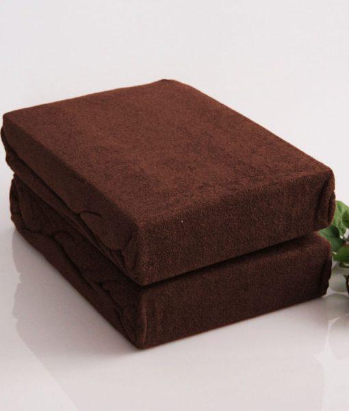 TP Froté prostěradlo Premium 190g/m2 180×200 Tmavě hnědá