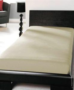 TP Jersey prostěradlo Premium 190g/m2 90x200 Béžová