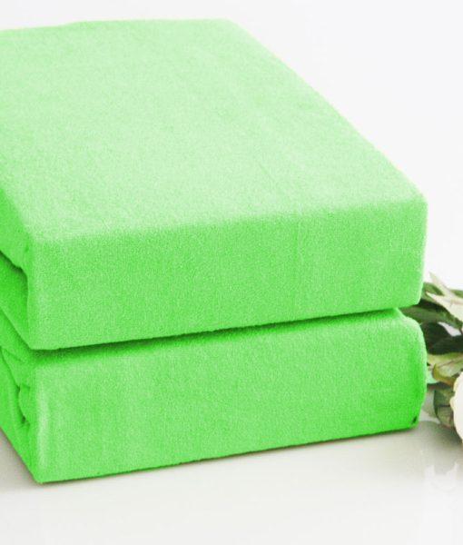 TP Froté prostěradlo Premium 190g/m2 90×200 Světle zelená