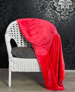 TP Mikroflanelová deka 150x200 Červená