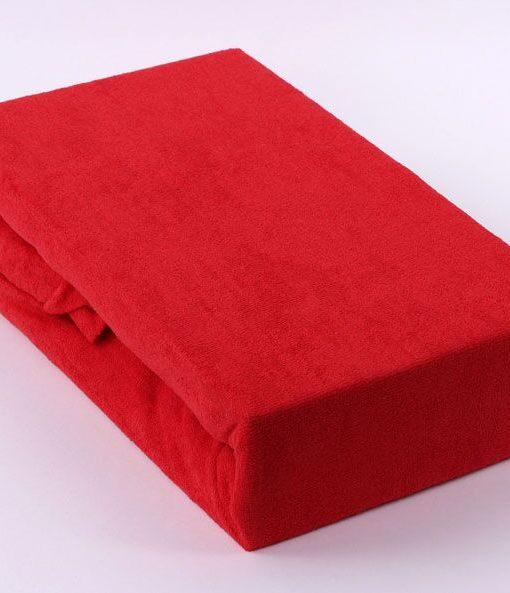 TP Froté prostěradlo Premium 190g/m2 90×200 Červená