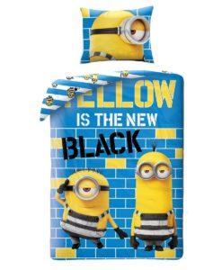 Halantex Dětské bavlněné povlečení Já padouch Mimoni Yellow is the new Black