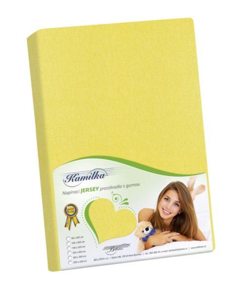 Bellatex Jersey prostěradlo Kamilka žlutá
