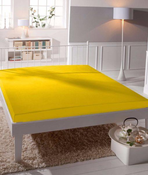 TP Jersey prostěradlo Premium 190g/m2 160×200 Žlutá
