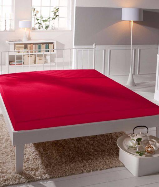 TP Jersey prostěradlo Premium 190g/m2 160×200 Červená