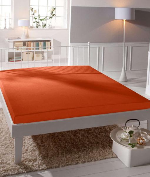 TP Jersey prostěradlo Premium 190g/m2 180×200 Oranžová