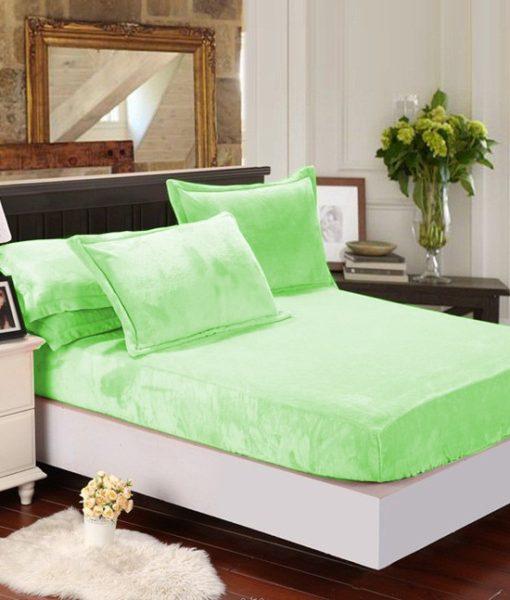 TP Mikroflanelové prostěradlo 90×200 Zelená