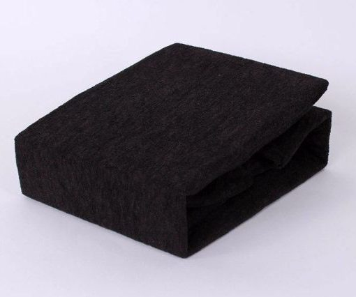 TP Froté prostěradlo Premium 190g/m2 140×200 Černá