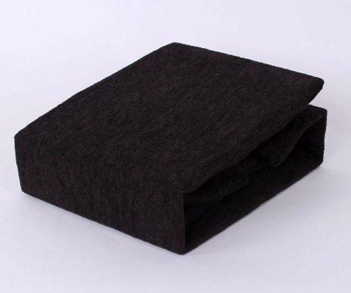 TP Froté prostěradlo Premium 190g/m2 160×200 Černá