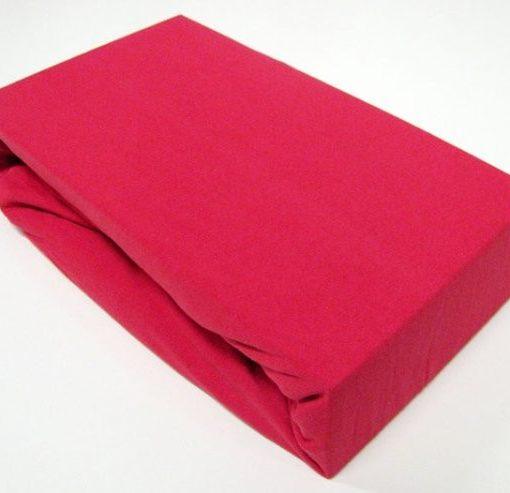 TP Jersey prostěradlo Premium 190g/m2 140×200 Červená