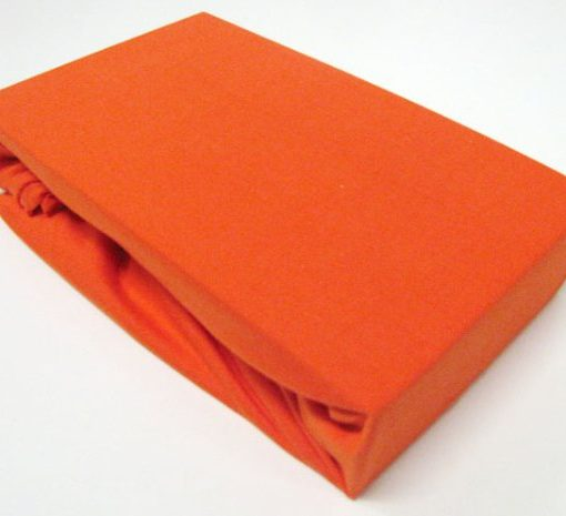 TP Jersey prostěradlo Premium 190g/m2 90×200 Oranžová