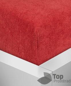 TP Froté prostěradlo Premium 190g/m2 220x200 Červená