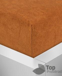 TP Froté prostěradlo Premium 190g/m2 220x200 Rezavá hnědá