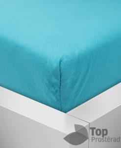 TP Jersey prostěradlo Premium 190g/m2 160x200 Azurová
