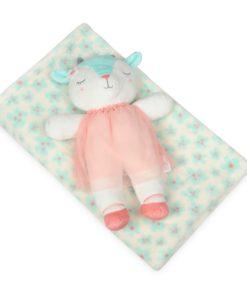 Babymatex Dětská deka zelená s plyšákem ovečka