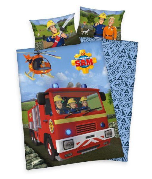Herding Dětské bavlněné povlečení do postýlky Požárník Sam