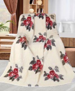 Bellatex Vlněná deka Růže rudá